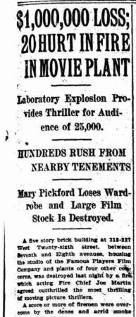 1915 Studio fire
