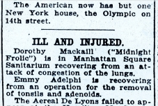 Ill and Injured Variety Feb 4 1921
